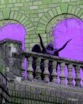 Digital Art - Oasis Angel #6112_b Balcony View by Barbara Tristan