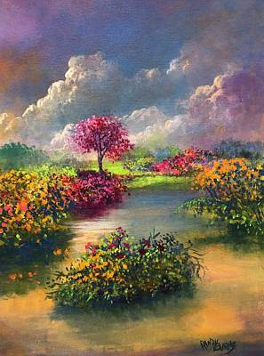 Painting - Oasis In Heaven/oasis En El Cielo by Randol Burns