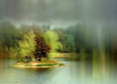 Digital Art - Oasis In The Water by Bonnie Willis