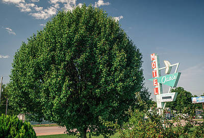 Photograph - Oasis Motel Route 66 Landscape - Tulsa Oklahoma by Gregory Ballos
