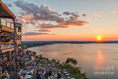 Oasis Sunset Art Print by Tod and Cynthia Grubbs