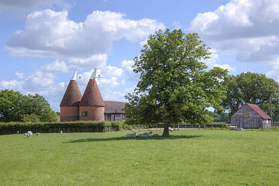Hop Photograph - Oast House In Kent - England by Joana Kruse