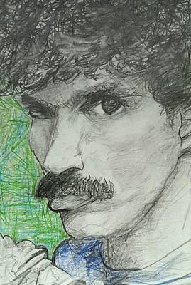Rock And Roll Drawing - Oates by Ella Wens