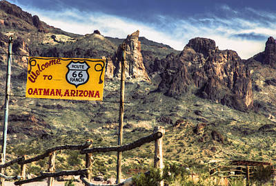 Photograph - Oatman, Arizona - Route 66 by David Wagner