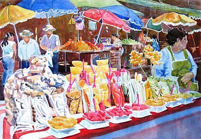 Painting - Oaxaca Market by Lynn Marit Peterson