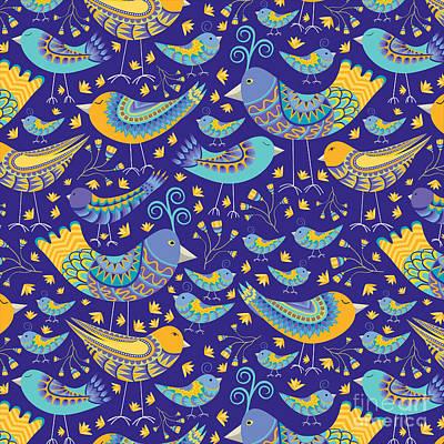 Patterns Painting - Oaxacan Mercado Birds by Darlene Seale