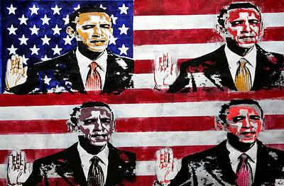 Obama 2 Art Print by Jorge Berlato
