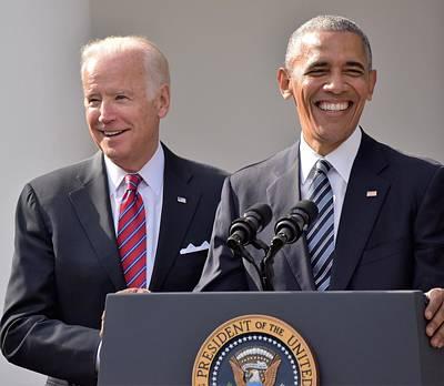 Obama And Biden Art Print