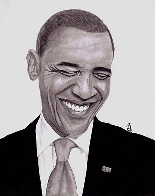 Drawing - Obama by Angelee Borrero