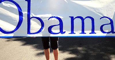 Obama Banner. Art Print by Oscar Williams