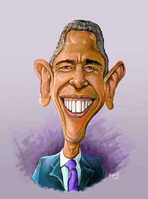 Politicians Royalty-Free and Rights-Managed Images - Obama Caricature by Anthony Mwangi