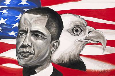 Obama Art Print by Keith  Thurman
