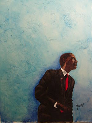 Cesar Chavez Painting - Obama Of My Mind by Gennaro  Garcia