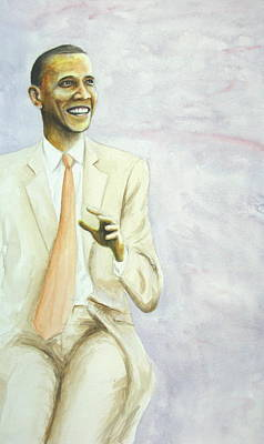 Obama Painting - Obama On The Left by Scott Manning