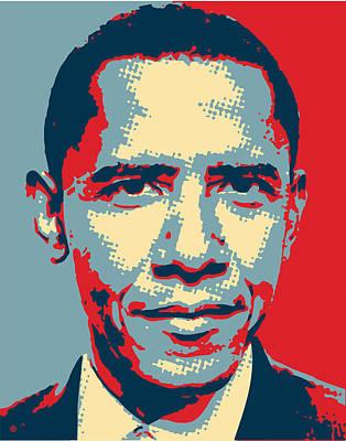 Digital Art - Obama Pop by Gary Grayson