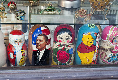 Obama Russian Doll 0183 Art Print by Charles  Ridgway