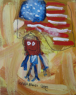 Painting - Obama by Sophia Pontet