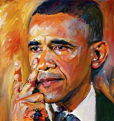 Obama Sorrow Art Print