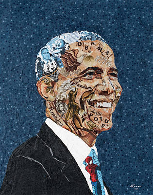 Obama, The President And The Man Original by Mihira Karra