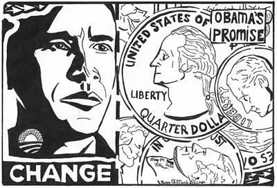 Obama's Promise Print by Yonatan Frimer Maze Artist