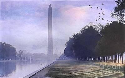 Washington Monument Digital Art - Obelisk  by Beth Williams