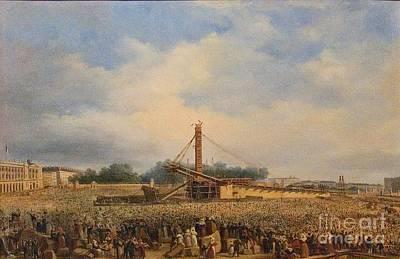 Obelisk Painting - Obelisk On The Place by MotionAge Designs