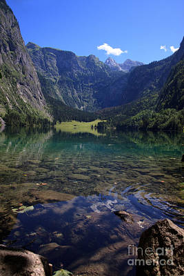 Lakeside Photograph - Obersee by Nailia Schwarz