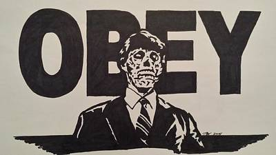 Obey Drawing - Obey by Jere