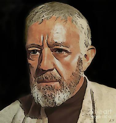 Painting - Obi-wan Kenobi by Sergey Lukashin