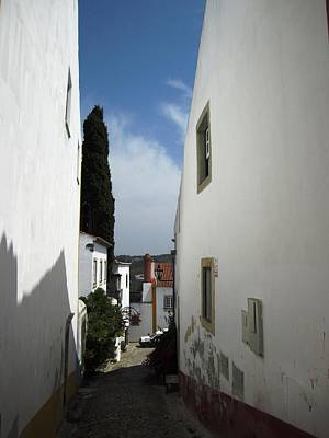 Photograph - Obidos Side View II Portugal by John Shiron