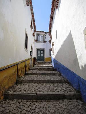 Photograph - Obidos Stone Walkway II Portugal by John Shiron