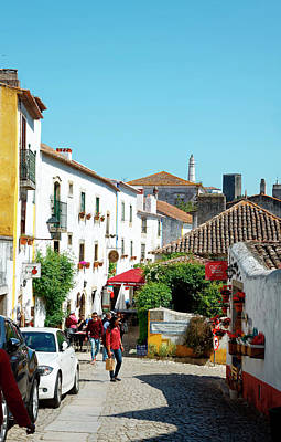 Photograph - Obidos Street Scene by Sally Weigand