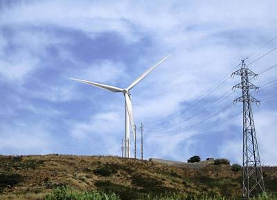 Photograph - Obidos Wind Turbine II Portugal by John Shiron