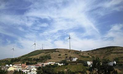 Photograph - Obidos Wind Turbine Portugal by John Shiron