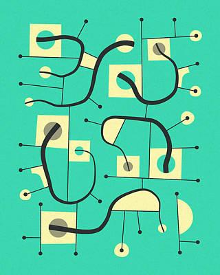Modern Abstract Art Digital Art - Objectified 26 by Jazzberry Blue