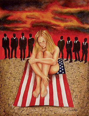 Liberal Painting - Objectified In Her Country by Sarah Cyr