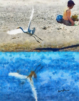Water Play Digital Art - Oblivious by Anthony Caruso