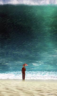 Ocean Digital Art - Oblivious by Cynthia Decker