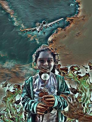 Digital Art - Oblivious Innocence by Vennie Kocsis