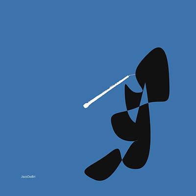 Digital Art - Oboe In Blue by Jazz DaBri