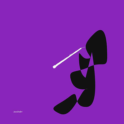 Digital Art - Oboe In Purple by David Bridburg
