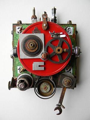 Mixed Media - Obot Bot by Jen Hardwick