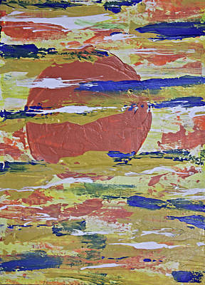 Painting - Obscure Orange Abstract by April Burton