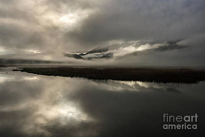 Photograph - Obscured - Flat Creek, Jackson, Wy by Sandra Bronstein