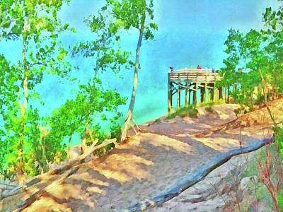 Digital Art - Observation Deck On The Pierce Stocking Scenic Drive by Digital Photographic Arts