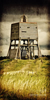 Mud Mixed Media - Observation Tower by Angela Doelling AD DESIGN Photo and PhotoArt