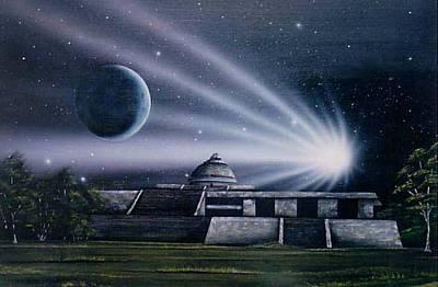 Chichen Itza Painting - Observatorio 2012 by Angel Ortiz