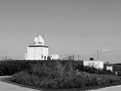 Photograph - Observatory At The Canaveral Nationall Seashore In Black And White   by Chris Mercer