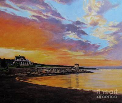 Painting - Observatory Point, Rockport, Ma by Keith Gantos