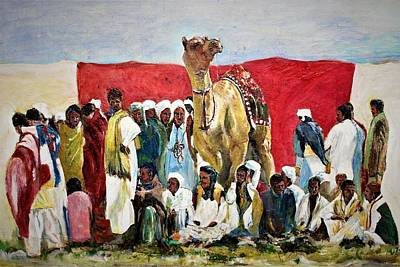 Painting - Observers Of The Events. by Khalid Saeed